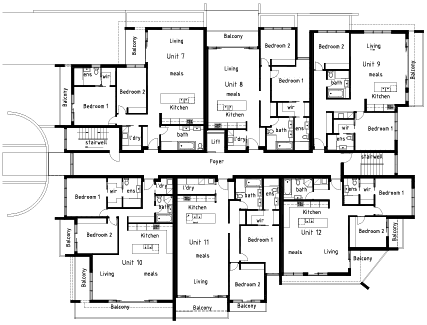A1 drafting apartment design services melbourne australia for Apartment plans melbourne